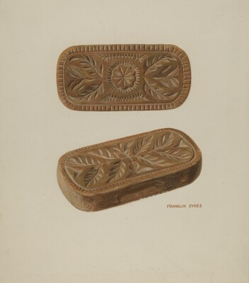 Carved Pinewood Mold