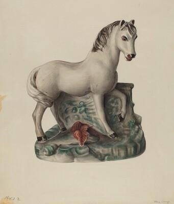 Chalkware Horse