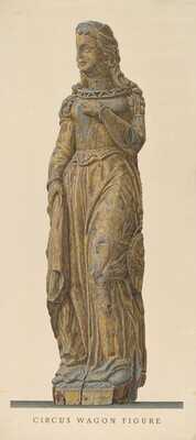 Circus Wagon Figure: Medieval Lady
