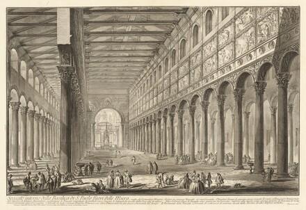 Spaccato interno della Basilica di S. Paolo fuori delle Mura
