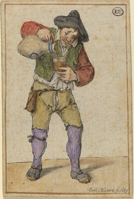 Peasant Filling a Glass