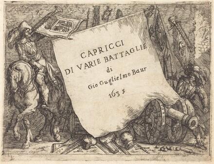 Capricci di varie battaglie (Title Page)