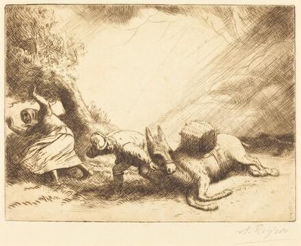 Donkey Upset by Storm (L'ane renverse par la foudre)