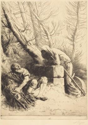 Death and the Woodcutter, 4th plate (La mort et le bucheron)