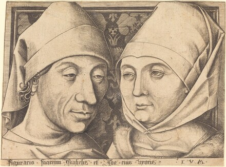 Double Portrait of Israhel van Meckenem and His Wife Ida