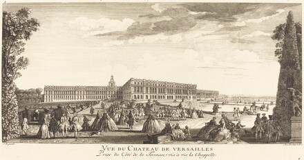 Vue du Chateau de Versailles Prise du Cote dela Terrasse vis a vis la Chapelle