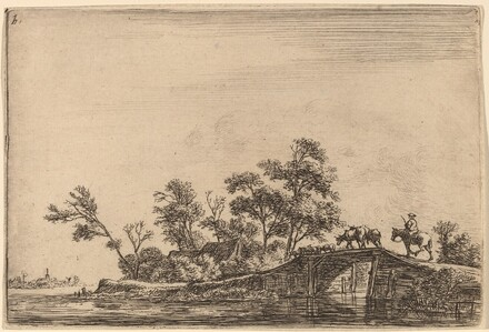 Rider and Flock on a Bridge