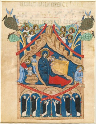 The Nativity with Six Dominican Monks