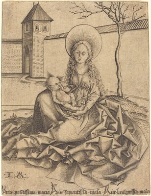 Virgin and Child in a Courtyard