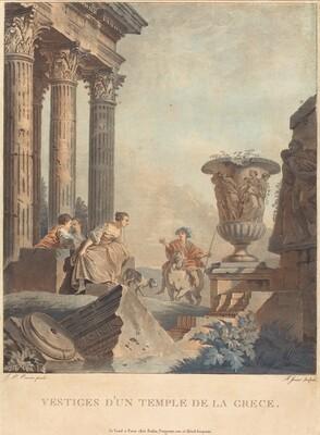 Vestiges d'un temple de la Grece