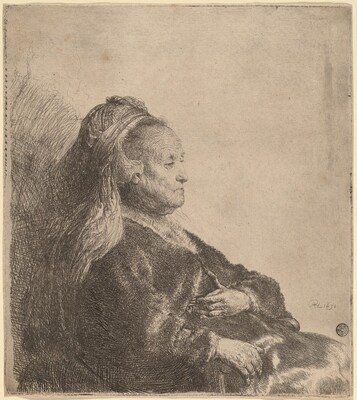 The Artist's Mother Seated, in an Oriental Headdress