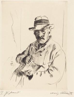 Self-Portrait in a Straw Hat (Selbstbildnis im Strohhut)