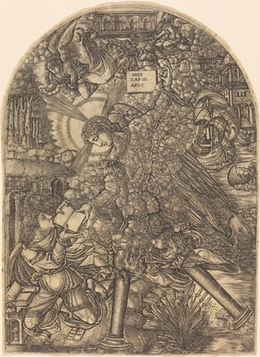 The Angel Gives Saint John the Book to Eat