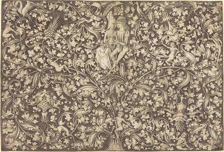 Ornament Panel with Two Lovers