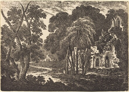 Ruined Abbey among Trees