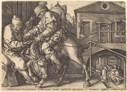 The Good Samaritan Paying for the Lodgings  of the Traveler