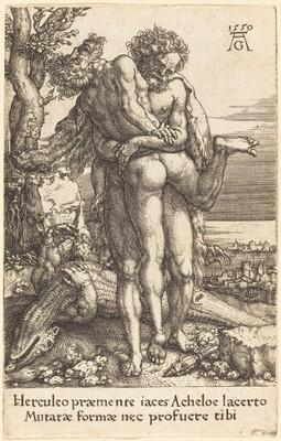 Hercules Fighting the Rivergod Achelus