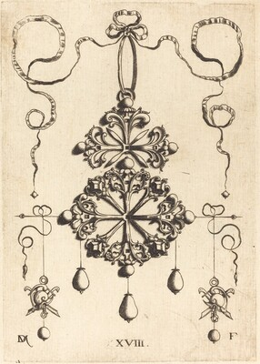 Pendant with Two Double Crosses