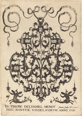 Title Page: Large Pendant, Two Winged Imaginary Figures at Bottom