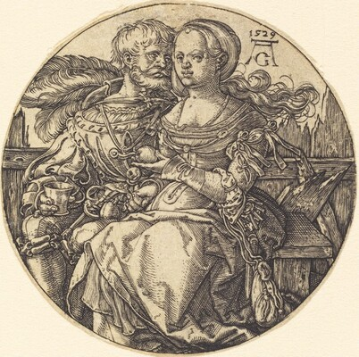 A Couple of Lovers Seated