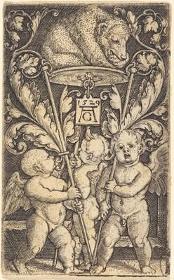 Three Cupids and a Bear