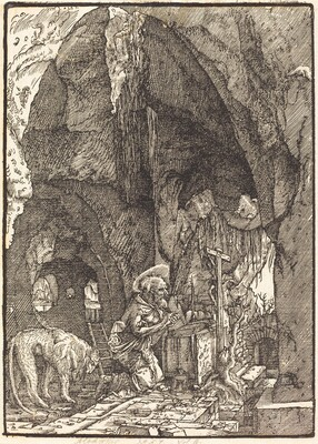 Saint Jerome in a Cave