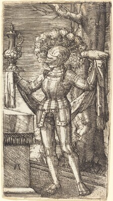 Knight in Armour with Bread and Wine
