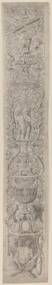 Ornament Panel: Satyr Holding a Violin