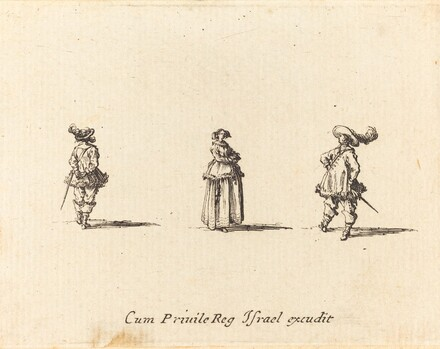 Lady with Arms Folded, and Two Gentlemen