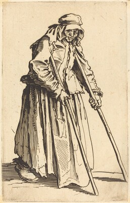 Beggar Woman with Crutches