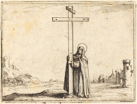Nun Embracing the Holy Cross