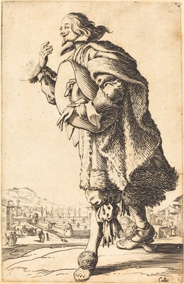Noble Man with Felt Hat, Bowing