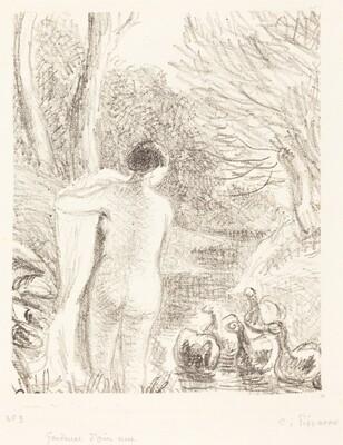 Gardeuse d'oies nue (Nude Goose Girl)