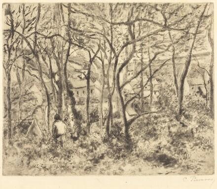 Wooded Landscape at L'Hermitage, Pontoise (Paysage sous bois, a L'Hermitage,Pontoise)