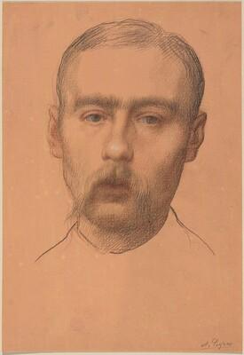 Head of a Man  (Possible Portrait of Professor E.D. Adams)