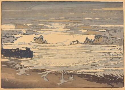 Unfurled Waves, Flood of September 1901 (Les lames deferlent,maree de Septembre 1901)