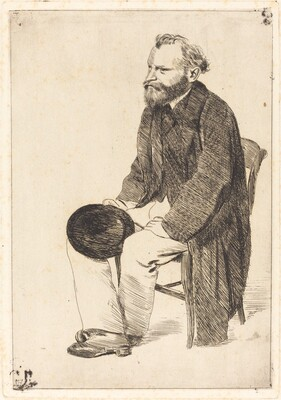 Manet Seated, Turned to the Left (Manet assis, tourné à gauche)