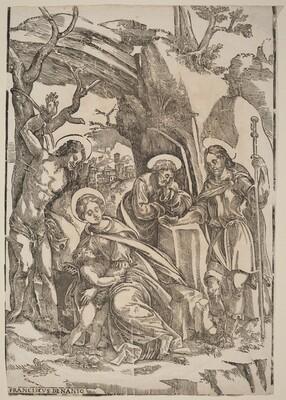 The Holy Family with Saint Sebastian and Saint Roch