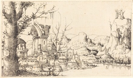 River Landscape with the Temptation of Christ