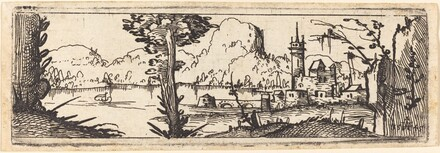 Landscape with Lake and Town