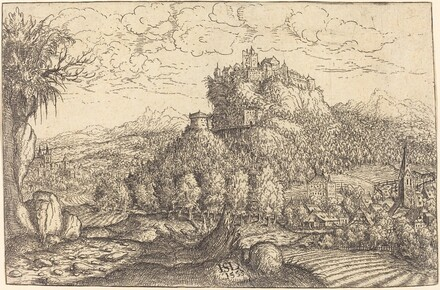 Landscape with a Castle in the Center