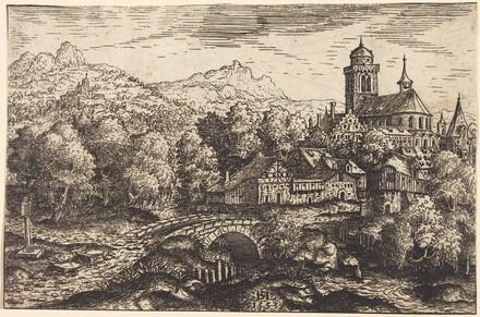 Mountainous Landscape with a Village