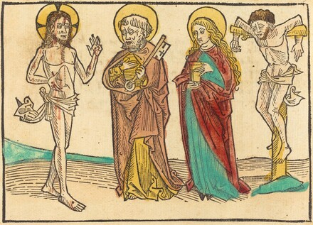 Christ Showing His Wounds to Peter, the Magdalene and the Good Thief