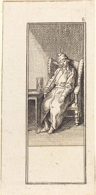 Young Man Seated, Smoking