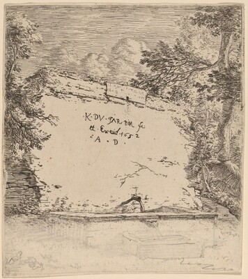 Title Page with Fountain