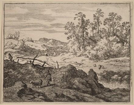 Shepherd with Lamb