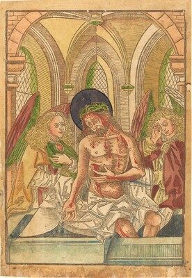Christ in the Tomb with Two Angels