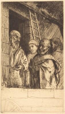 Saint Peter and Saint Paul at the Door of Bonhomme Misere (Saint Pierre et Saint Paula la port du Bonhomme Misere)
