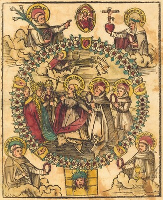 Madonna in a Rosary with Saints