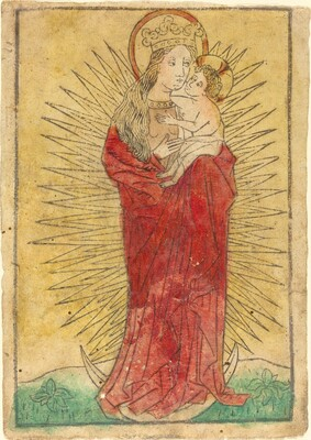 Madonna and Child in a Glory Standing on a Crescent Moon